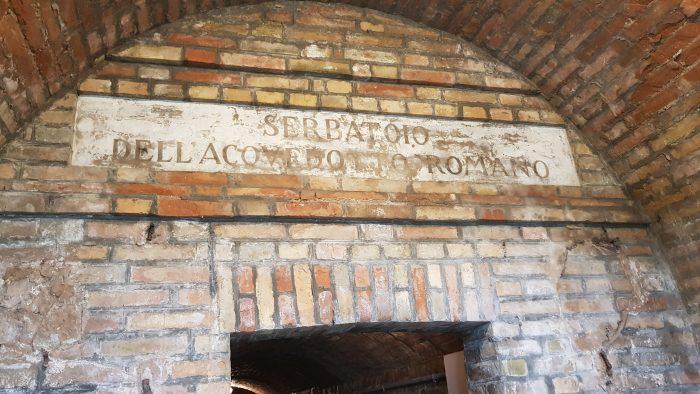 secondo ingresso serbatoio romano